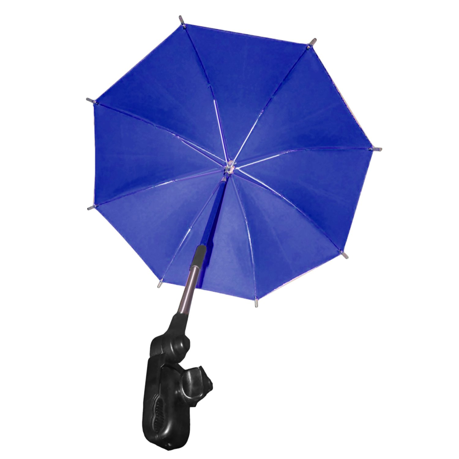 Umbrella for Stroller, Adjustable Baby Stroller Sun Shade Pram UV Rain Protection Umbrella Parasol with Holder Clip for Wheelchair Pushchair Accessories Blue Migavan