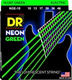 NEON Hi-Def Green Electric 10-46. Super bright colors that will sound clear, bright and musical. NEON's are 100% black light active and will glow under ANY UV light source.