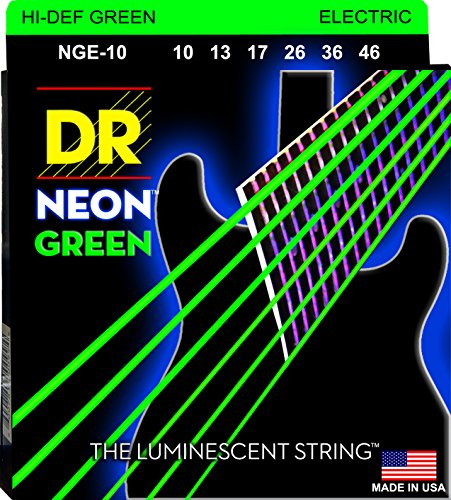 DR Strings NGE-10  Coated Nickel Electric Guitar Strings, Medium