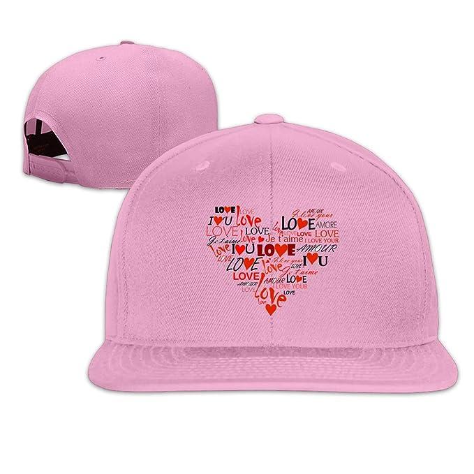 5442408bdfd nordic runes Love Hear Mens Baseball Cap Flat Bill Snapback Dad Hat for  Women Black at Amazon Men s Clothing store