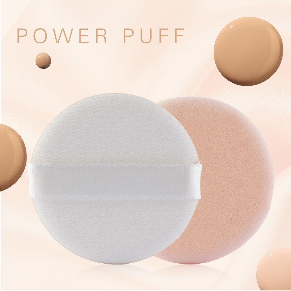 Jinjin 4PCS Makeup Foundation Sponge, Flawless Makeup Foundation Beauty Sponge Puff Perfect For Powder (Beige)