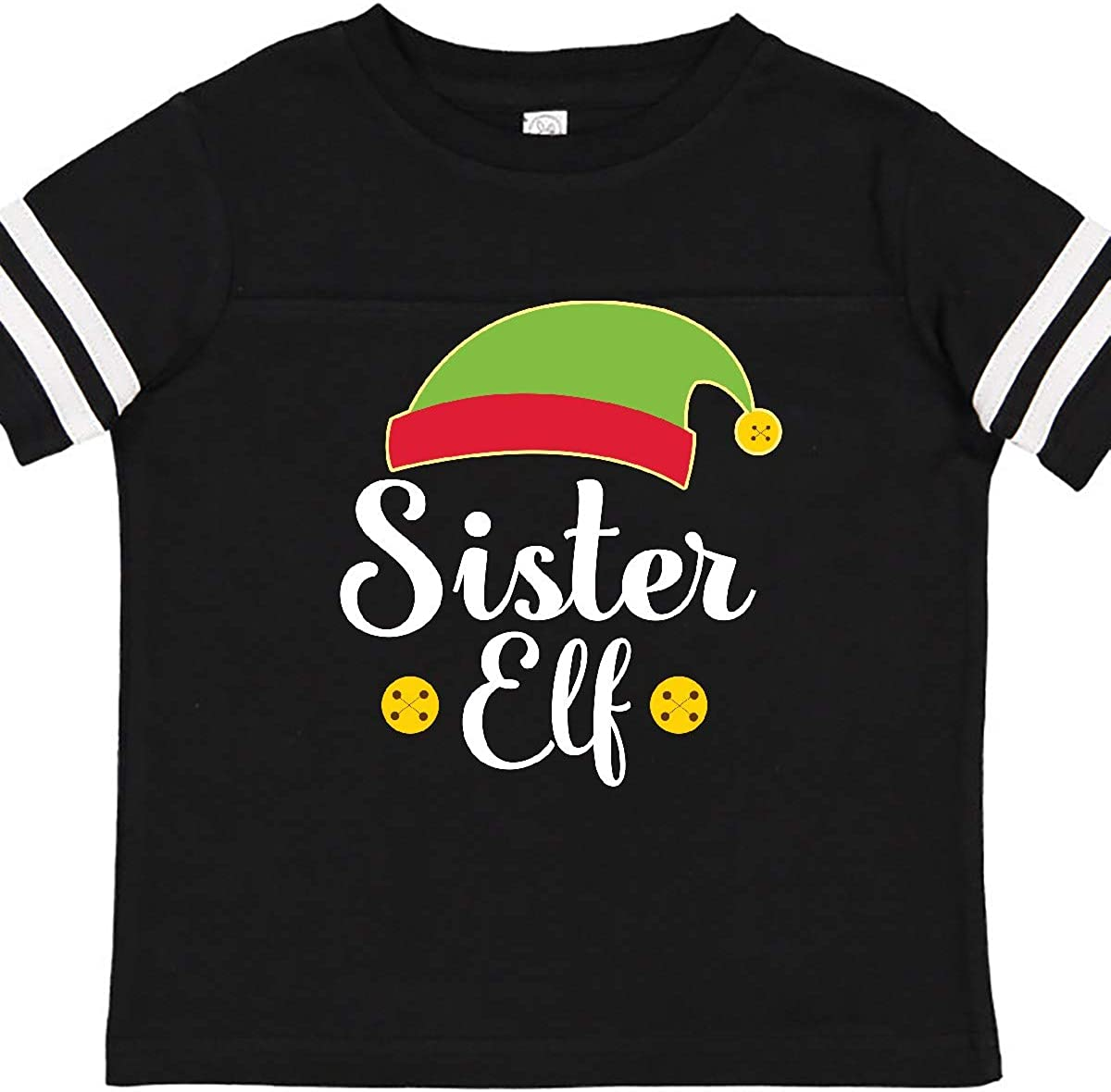 inktastic Christmas Sister Elf Holiday Toddler T-Shirt