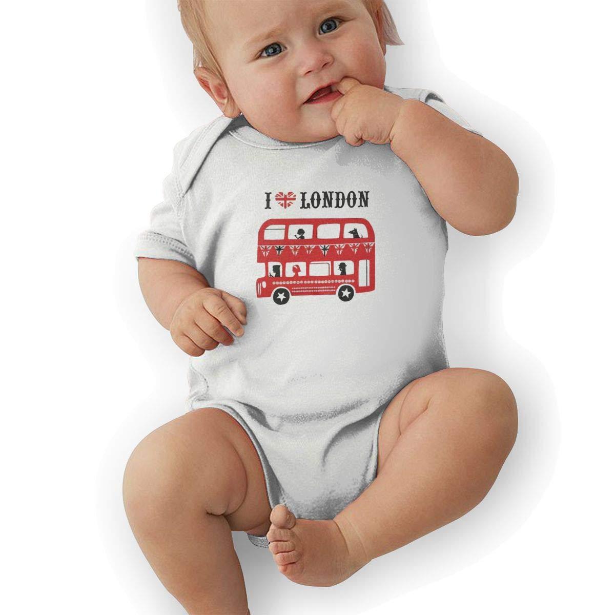 I Love London Baby Romper 0-18 Months Newborn Baby Girls Boys Layette Rompers Black