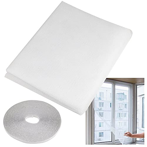 Chinkyboo Large Fly Screen for Windows and Doors, White, Made from mesh Fabric. Protects Against Bugs, Flies, Moths, Mosquitoes