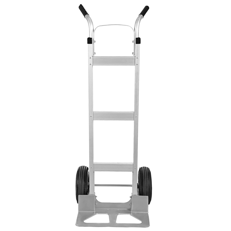 Coocheer Aluminum Heavy Duty Hand Trucks Cart with 2 Pneumatic Tires, Double Pistol Grip Handle 500lb Capacity by COOCHEER
