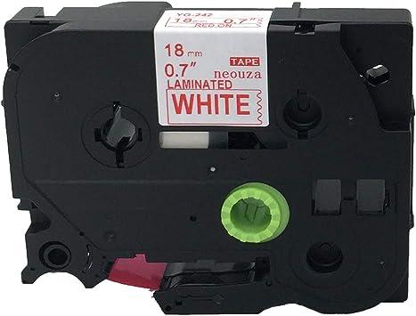 12mm//8m TZ232 Beschriftungsband original Brother P-touch TZe-232 rot auf weiß