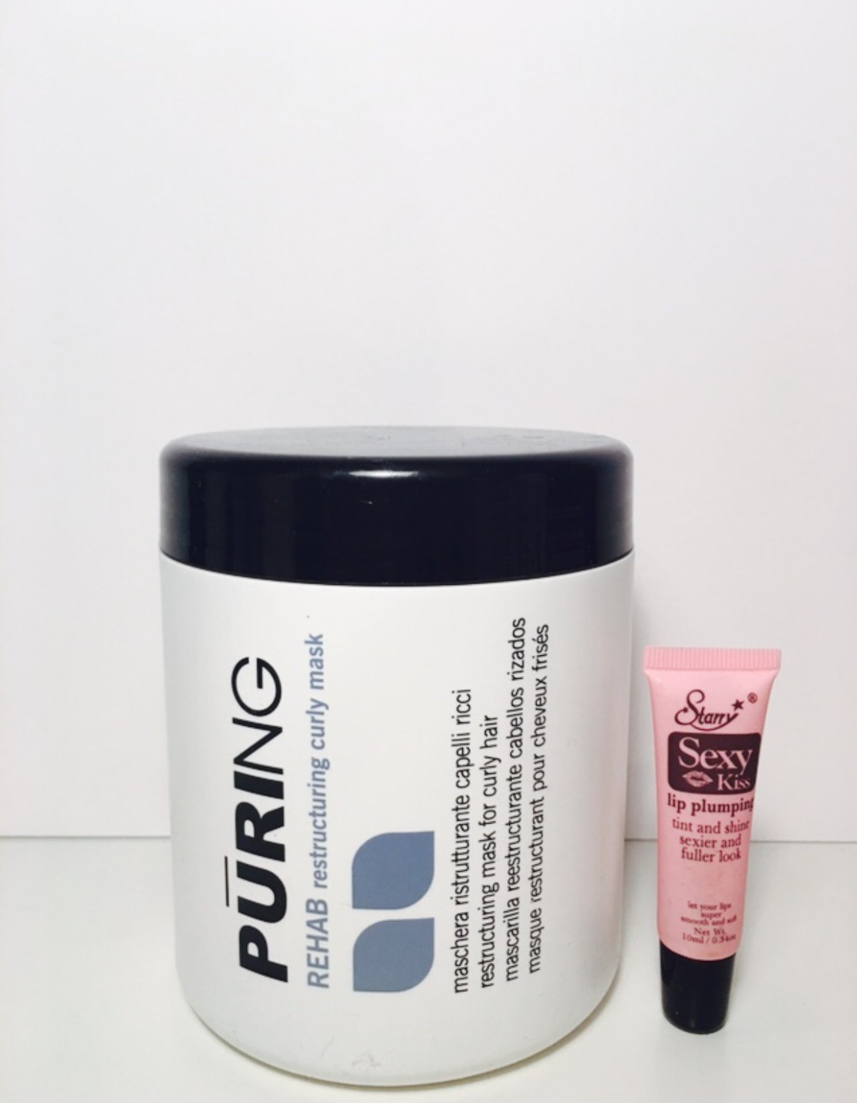 Maxima MX Puring Rehab Restructuring Curly Mask 1000ml/33.8oz ''Free Starry Sexy Kiss Lip Plumping 10 Ml''