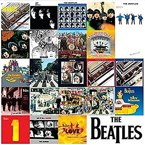 The Beatles Chronology Of Albums Metal Wall Sign Retro Tin Steel Plaque Bar Help