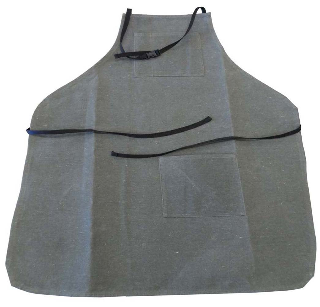 ToolUSA 34'' X 26'' 2 Pc.green Canvas Apron With 2 Front Pockets, Each 7'' X 6.5'', Ties At Neck & Back: AW018-USA