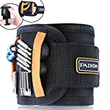 #9: Padida Magnetic Wristband with 15 Strong Magnets for Holding Screws, Nails, Drilling Bits, Best Unique Tool Gifts for DIY Handyman, Men, Women