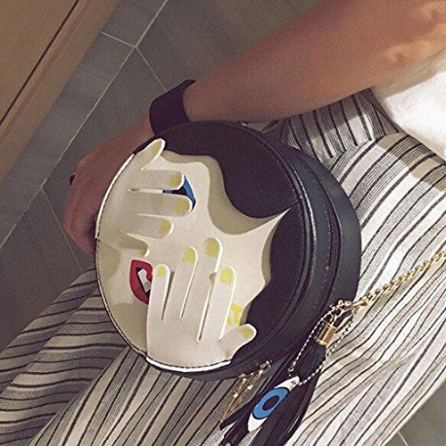 Ladies 17 Bag Round Fhrr Cm 8 Black Child Sj Shoulder U05ff