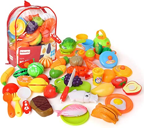 BeebeeRun Corte de Frutas y Alimentos Falsos,Alimentos Juguetes ...