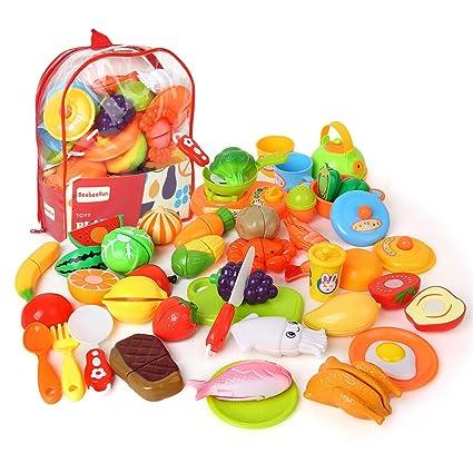 BeebeeRun Taglio Frutta Verdura Bambini,Accessori da Cucina,Giocattolo  Educativo Bambini 3+ Anni
