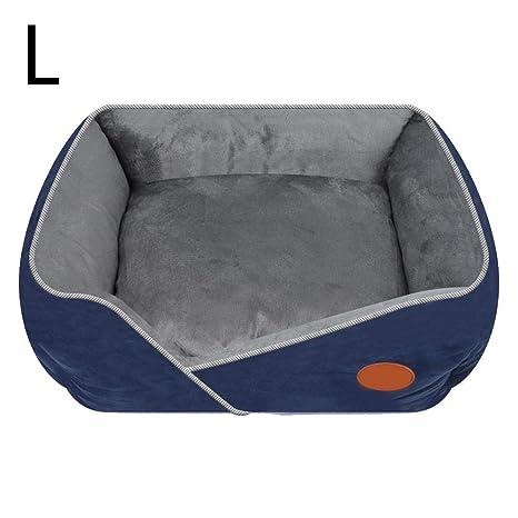 Cama Perro Gato Cómodo Casa para Mascotas Desmontable Lavable Portátil Extraíble Antideslizante para Perros Mascotas