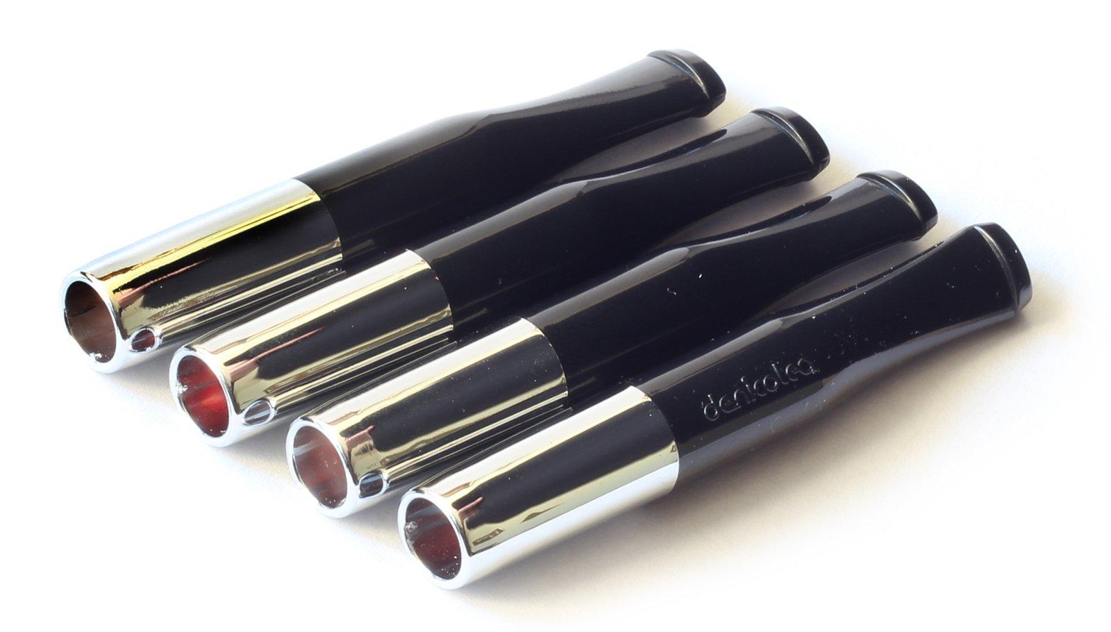 4 x DENICOTEA cigarette holders Black and Silver color