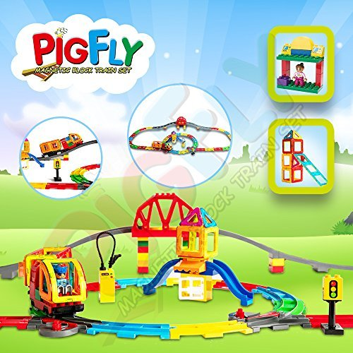 Pigflytech Magnetic Building Construction Playboards