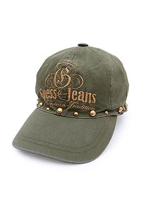 Guess Jeans Gorra de Visera AMERICAN TRADITION, Color: Verde ...