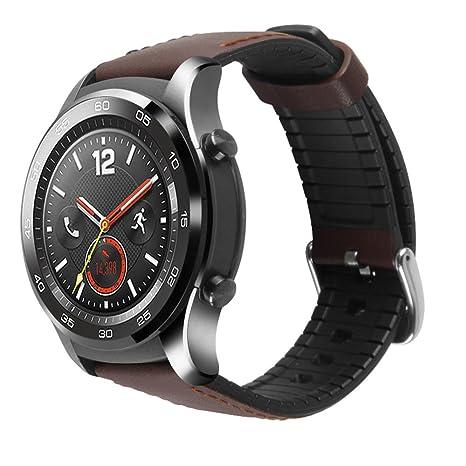 Huawei Watch 2 Pro montre Band Pinhen 22 mm Cuir de remplacement Bracelet sport réglable Bracelet
