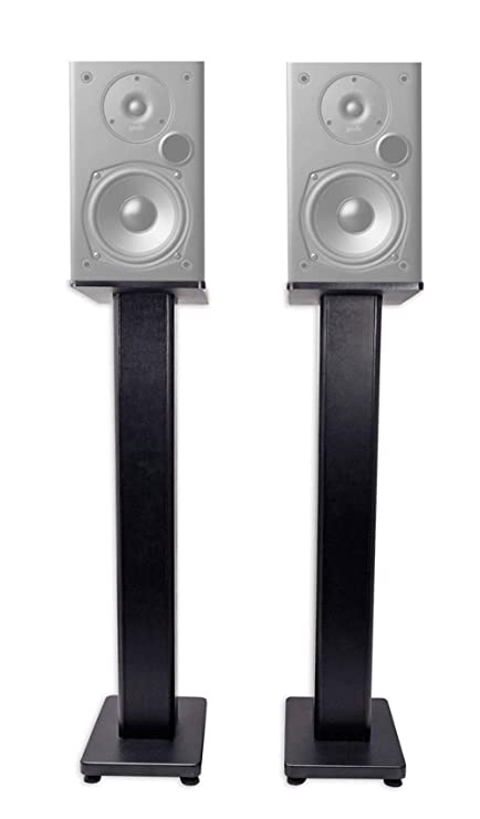 Pair 36quot Bookshelf Speaker Stands Polk Audio T15 Speakers