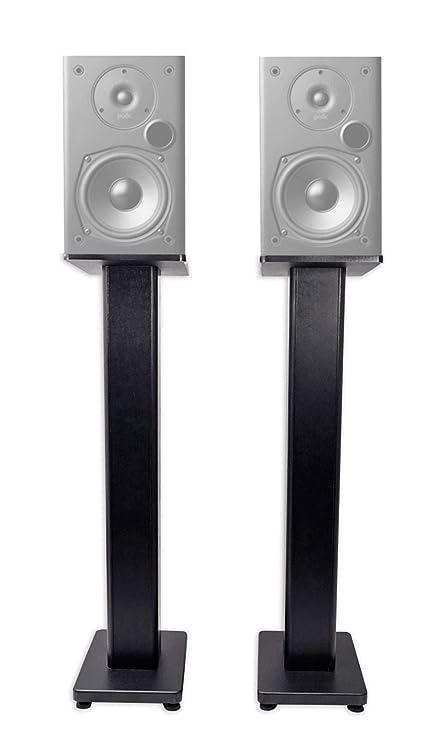 Pair 36quot Bookshelf Speaker Stands Polk Audio T15 Speakers