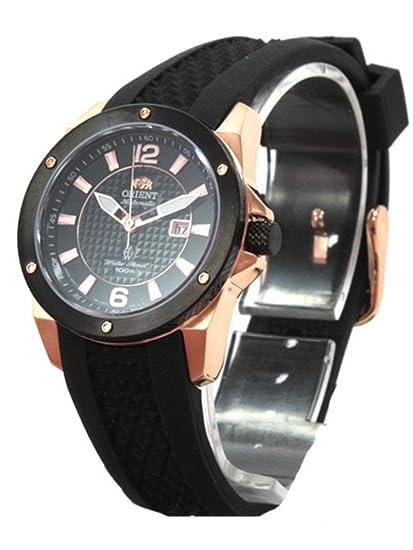 Orient fnr1h003b0 - Reloj de pulsera de mujer, correa de caucho color negro: Amazon.es: Relojes
