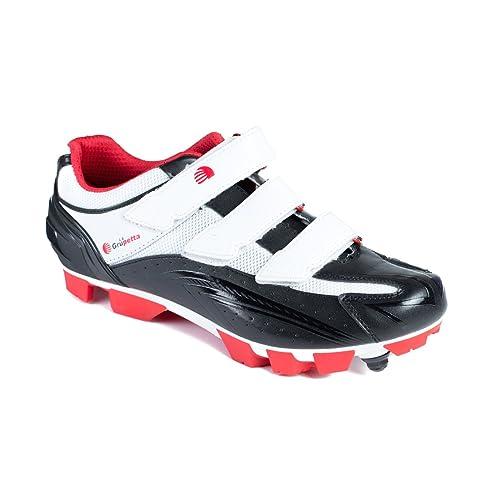 La Grupetta Zapatillas MTB OGUH Blanco-Rojo-Negro T.43: Amazon.es: Zapatos y complementos