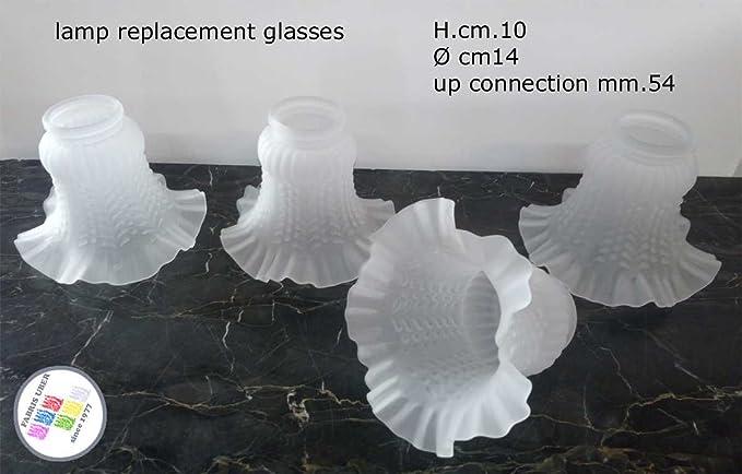 Fabris uber serie 4 pezzi paralumi vetri ricambio lampade lampadario
