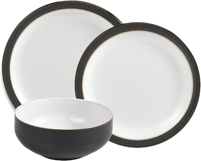 One size Denby JET-052B//4 JET Set of 4 Black Pasta Bowl Set