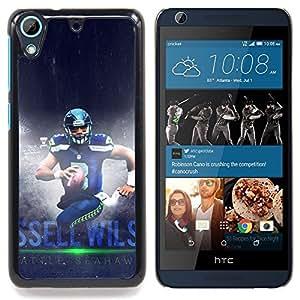 """Seahawk Fútbol"""" - Metal de aluminio y de plástico duro Caja del teléfono - Negro - HTC Desire 626 626w 626d 626g 626G dual sim"""