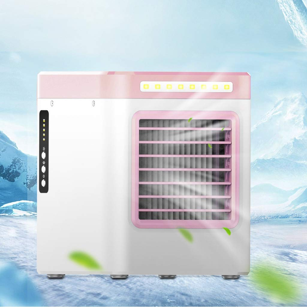 Portable Air Conditioner Fan, Personal Space Air Cooler, Humidifier, Purifier, Desktop Cooling Fan Personal Table Fan Used Office Home Kitchen US (Pink) by gugs (Image #2)