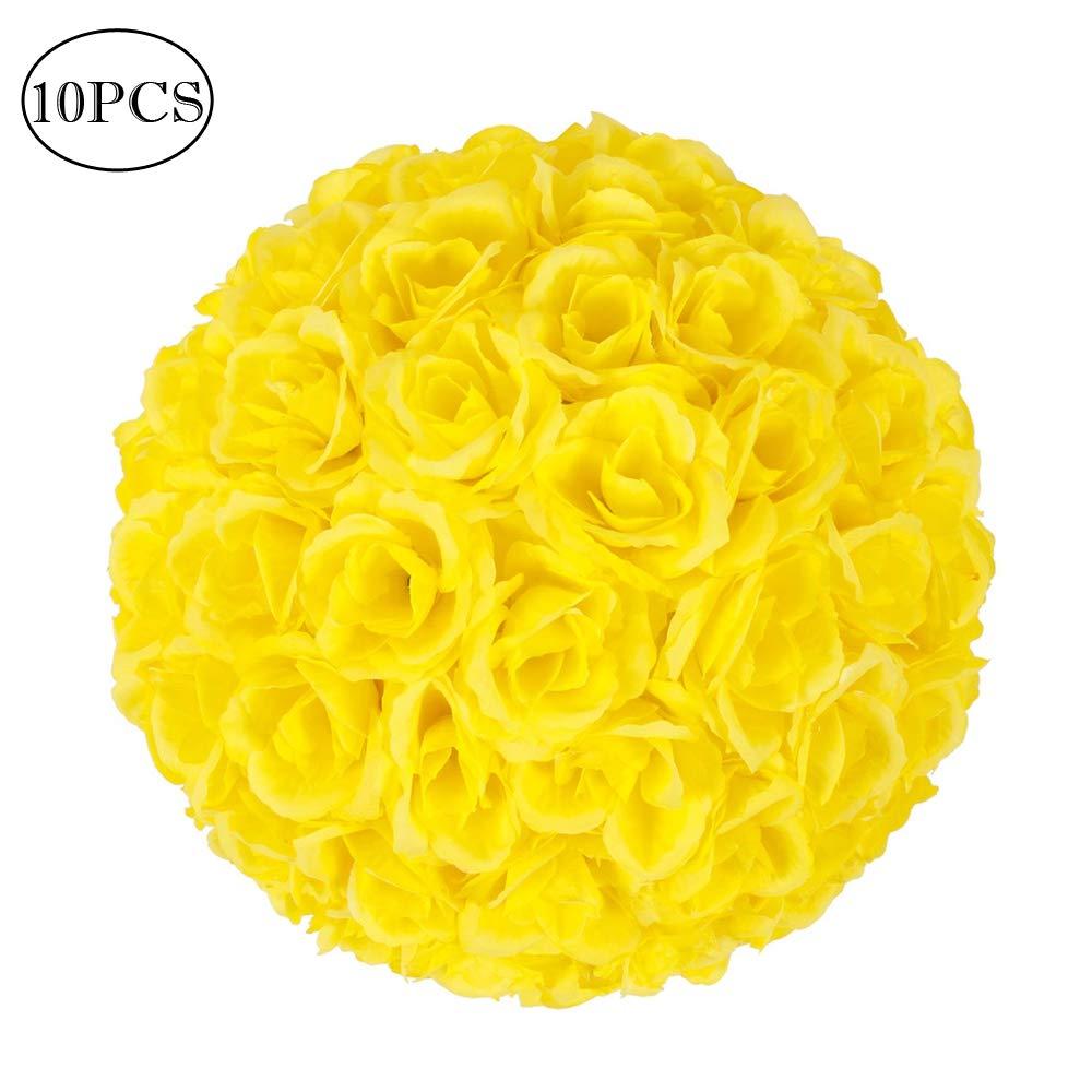 ZHOUMOJH 10Pcs 25CM Tissue Paper Pompoms Flower Balls Wedding Party Home Outdoor Hanging Decoration