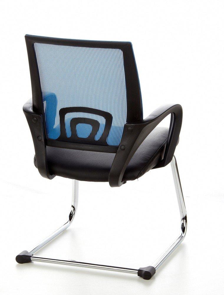 hjh OFFICE VISTO NET V Mesh konferens/Cantilever stol, 650400-P Grå Flerfärgad