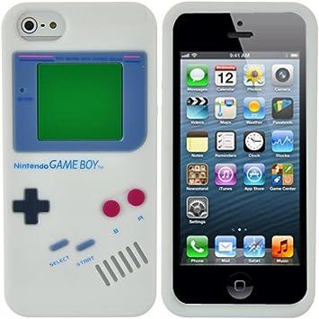 OBiDi - 3D Gameboy Coque en Silicone / Housse pour Apple iPhone 5S ...