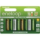 Panasonic 松下eneloop AA可充电电池,Limited Edition(Botanic Pack)1900mAh容量可充电电池,8个装