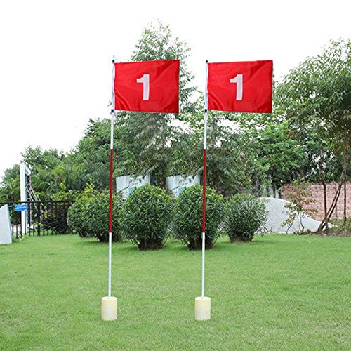 2 Pack Practice Golf Putting Green Flags With Cup Backyard G