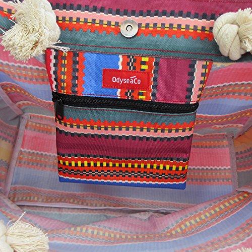 Odyseaco Baja Beach Bag Waterproof Canvas Tote, Large by Odyseaco (Image #3)