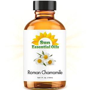 Roman Chamomile Essential Oil (Huge 4oz Bottle) Bulk Roman Chamomile Oil - 4 Ounce
