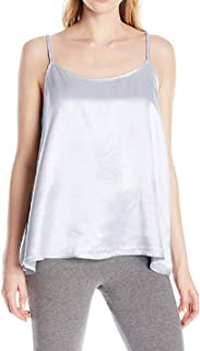 product image for PJ Harlow Daisy Satin Tank with Braided Straps & Elastic Back (Medium, Lavender)