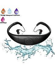 Tayogo Waterproof mp3 Player swimming, waterproof 8GB for Swimming Headset,sports headset, under Water Music Player