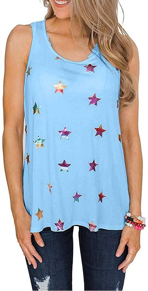 Chaleco de Mujer Camiseta Sin Mangas Estampado de Estrellas ...