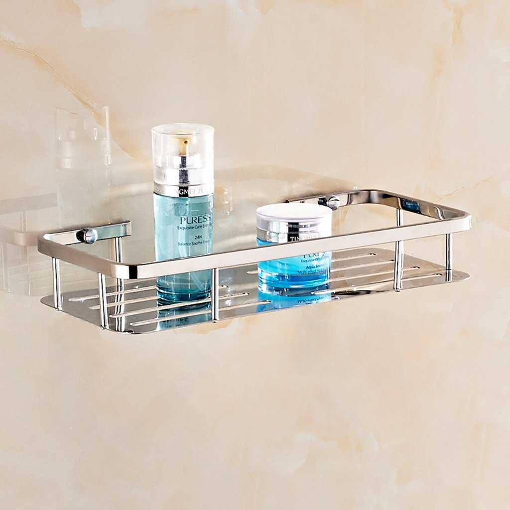 Stainless Steel 304 Shelf Bathroom Cosmetic Towers Washroom Bathroom Shelf Wall Mount ( Size : 1 layer ) by LITINGMEI Shelf