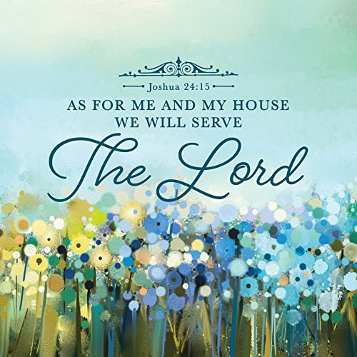 - Urban House Design Inspirational Canvas Wall Art- Serve the Lord, Joshua 24:15
