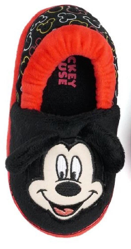 Mickey Mouse Disney Boy's Slippers (7-8 M US Toddler, Multi)