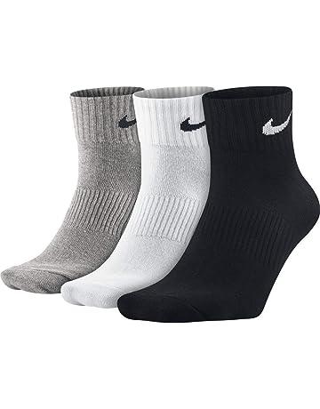 Nike Lightweight Quarter, Pack de 3 Pares de Calcetines, Unisex