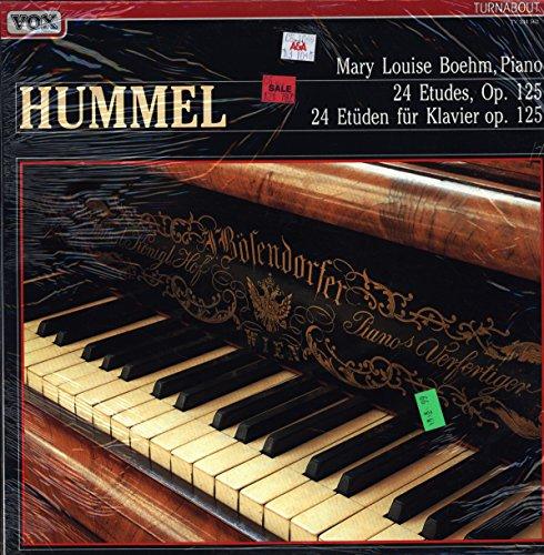 Johann Nepomuk Hummel, Mary Louise Boehm - 24 Etudes, Op. 125 - Turnabout - TV 334 562 - - Sealed - Mint (M)/Mint (M) - LP (Hummel Mint)
