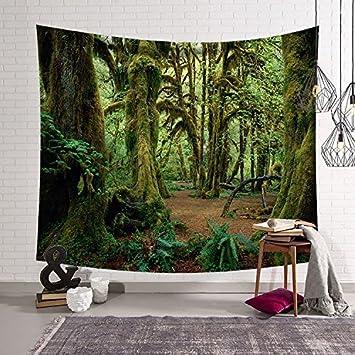 HmDco Wald Wandteppich Wand Decke Hängende Tuch Schlafzimmer ...