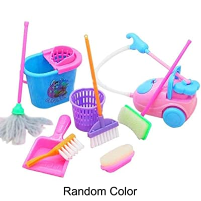 wumedy New Kids Children Simulation Cleaning Supplies Set Puzzle Early Education Toys Washing Machines: Home & Kitchen