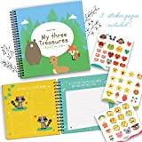 Triplets Memory Book by Unconditional Rosie - A Beautiful Baby Memory Book For Documenting Your Triplets First Five Years! Perfect Gift For Moms Having Three Babies! Gorgeous Baby Triplet Gifts!