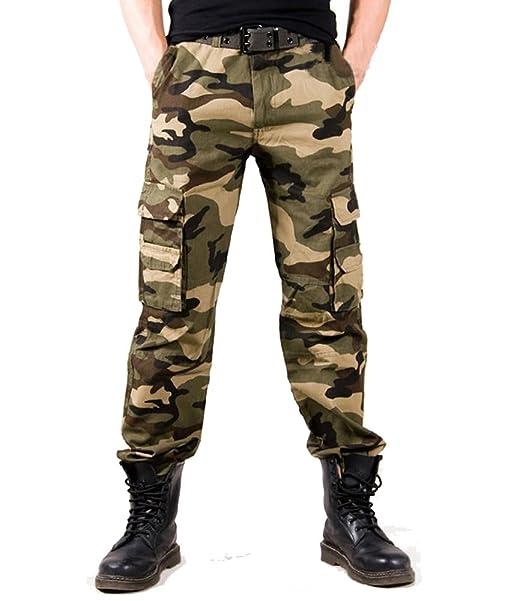 Amazon.com: Tonwhar de los hombres Woodland Militar ...