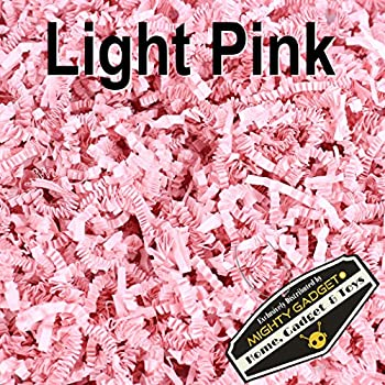 Mighty Gadget (R) 1/2 LB Light Pink Crinkle Cut Paper Shred Filler for Gift Wrapping & Basket Filling